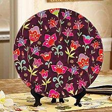 Beautiful Bell Flower Cheap Plates Ceramic Decor