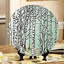 Beautiful Birch Forest Cheap Plates Ceramic