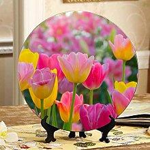Beautiful Bouquet of Tulips Designer Ceramic