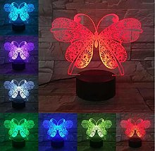 Beautiful Butterfly New 3D Optical LED Lamp Touch