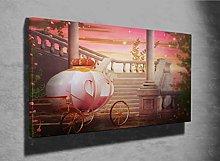 Beautiful Carriage Fantasy Photo Canvas Print