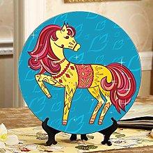 Beautiful Cartoon Pony Cheap Plates Ceramic