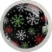 Beautiful Christmas Snowflakes Pattern 4 PCs
