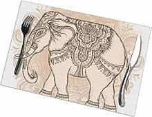 Beautiful Handdrawn Tribal Style Elephant Tattoo