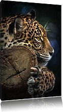Beautiful Leopard Graphic Art Print on Canvas East