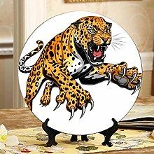 Beautiful Leopard Kitchen Decor Plates Cheap