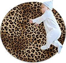 Beautiful leopard print, Round Rug Throw Area Rug