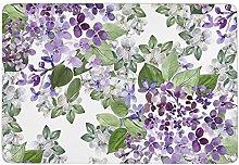 Beautiful Lilac,Area Rugs Washable floor mat rug
