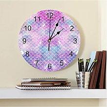 Beautiful Mermaid Scales Colorful PVC Wall Clock
