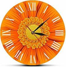 Beautiful Orange Deorative Clock With Roman