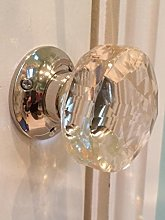 Beautiful Pair of Large Diamond Shaped Clear Real