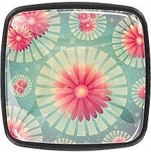 Beautiful Pattern 4pcs Colorful Crystal Glass