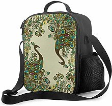 Beautiful Peacock Leakproof Insulated Reusable