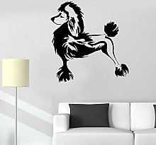 Beautiful Poodle Wall Decal Animal Dog Pet Friends