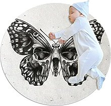 Beautiful skull, Printed Round Rug for Kids Family