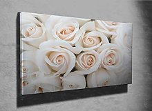 Beautiful Soft Rose Buds as Photo Canvas Print
