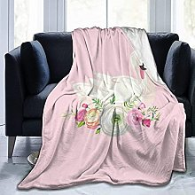 Beautiful swan square baby name family Blanket Bed