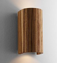 Beautiful Wall Light Tube Zebra Wood 17.5 cm