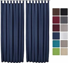 Beautissu 2 Set Thermal-Curtain Amelie with Loops