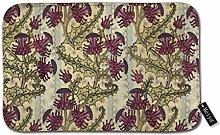 Beauty-Design Art Nouveau Purple Thistle Flower