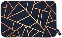Beauty-Design Copper And Midnight Navy Doormat