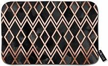 Beauty-Design Copper & Black Geo Diamonds Doormat