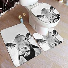 Beauty-Design Cow Photo Black And White Bathroom