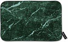 Beauty-Design Dark Green Marble Doormat Welcome
