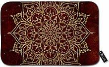 Beauty-Design Deep Red Gold Mandala Doormat