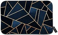 Beauty-Design Navy Stones Doormat Welcome Mat