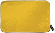 Beauty-Design Solid Yellow Mustard Ochore Doormat