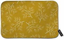 Beauty-Design White Branch And Leaves On Mustard