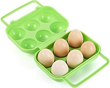 Beauty Top Portable 6 Eggs Plastic Container