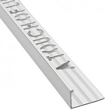 Beava Brushed Silver Tile Edging 10mm Straight