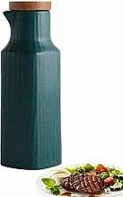 BECCYYLY Oil and Vinegar Bottle Ceramic Olive Oil