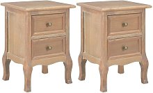 Becerra 2 Drawer Bedside Table by Brown - August