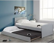 Beckton Grey Wooden Bed and Trundle Guest Bed