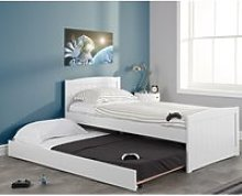 Beckton White Wooden Bed and Trundle Guest Bed