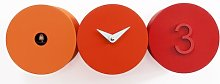 Becnel Clock Ebern Designs Colour: Orange / Red