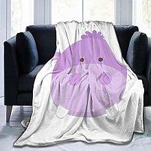 Bed Blanket Throw Rug Purple Hippo Baby Blanket