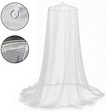 Bed Canopy Mosquito Net White Polyester Netting