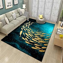 bed carpets for bedroom Salon rug blue abstract