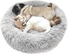 Bed For Plush Plush Round Gray Light Shopping Cart
