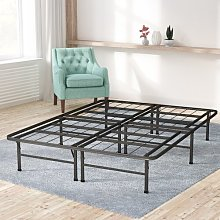 Bed Frame Blue Elephant Size: Double (4'6)