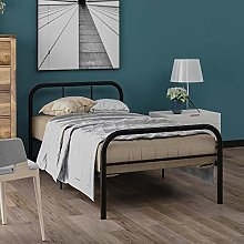 Bed Frame,Metal Daybed Guest Bed With Trundle For