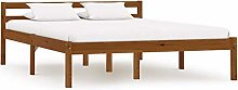 Bed Frame Solid Pine Wood Bed Frame Home Furniture