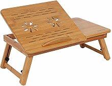 Bed Lap Desk - 1Pc Adjustable Bamboo Rack Shelf