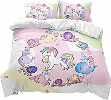 Bed Linen 135 x 200 cm 3D Fashion Cartoon Animal