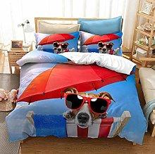 Bed Linen 240 x 260 cm Bedding Set 3D Animal Dog