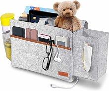 Bed Pocket, Bedside Storage Bag with Tissue Boxes